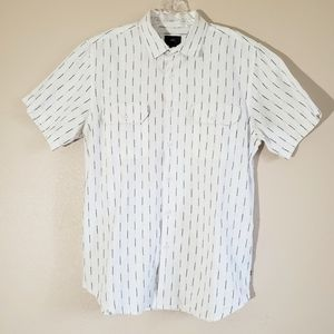 Mens OBEY button up short sleeve shirt